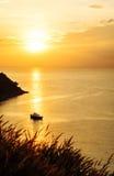 Mooie aard met kleur van zonsondergang Stock Fotografie