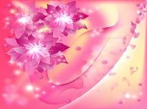 Mooie abstracte achtergrond met bloemen Stock Afbeelding