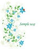 Mooie abstracte bloemenachtergrond Stock Afbeeldingen