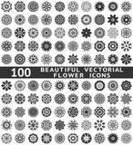 Mooie abstracte bloempictogrammen. Vector Royalty-vrije Stock Afbeelding