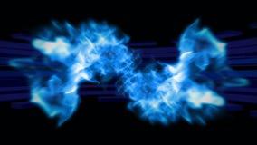 Mooie abstracte dubbele komeet in high-tech stijl 4K stock footage