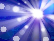 Mooie abstracte fantasie blauwe achtergrond Stock Foto