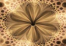Mooie abstracte fractal bloem, gekleurde bloem E Royalty-vrije Stock Foto