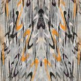 Mooie abstracte golven in een retro stijl op de grijze achtergrond grunge effect vectorillustratie Royalty-vrije Stock Foto