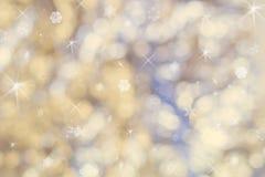Mooie abstracte Kerstmisachtergrond van vakantielichten stock afbeelding