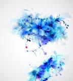 Mooie abstracte vrouwen Stock Afbeelding