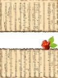 Mooie achtergrond met muzieknoten. Royalty-vrije Stock Foto