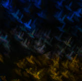 Mooie achtergrond met verschillende gekleurde zoemende vogel, abstra Stock Foto's
