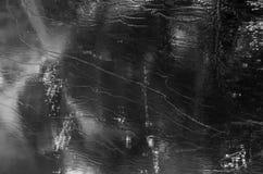 Mooie achtergrond van details in ijs bij de winter stock foto's