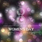 Mooie achtergrond voor de Dag van Vrouwen Stock Foto