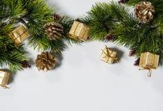 Mooie achtergrond voor Kerstmis en Nieuwjaargroetkaart Stock Fotografie