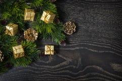 Mooie achtergrond voor Kerstmis en Nieuwjaargroetkaart Royalty-vrije Stock Foto's