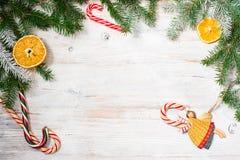 Mooie achtergrond voor nieuwe jaar en Kerstmis Royalty-vrije Stock Foto