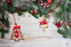 Mooie achtergrond voor nieuwe jaar en Kerstmis Royalty-vrije Stock Fotografie