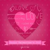 Mooie achtergrond voor Valentijnskaartendag met hart Stock Foto