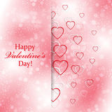 Mooie achtergrond voor Valentijnskaartendag met hart Royalty-vrije Stock Afbeelding