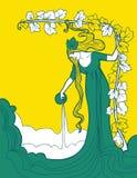 Mooie achtergrond voor wit wijnetiket Royalty-vrije Stock Afbeeldingen