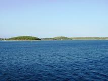 Mooie Adriatische Overzees, eiland Solta Stock Foto