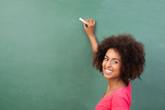 Mooie Afrikaanse Amerikaanse student of leraar Stock Foto's