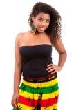 Mooie Afrikaanse Amerikaanse tiener Stock Fotografie
