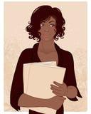 Mooie Afrikaanse Amerikaanse vrouw Stock Afbeeldingen