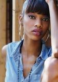 Mooie Afrikaanse Amerikaanse vrouw Stock Afbeelding