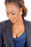 Mooie Afrikaanse Amerikaanse Vrouw Stock Foto