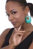 Mooie Afrikaanse Amerikaanse wom Royalty-vrije Stock Afbeelding