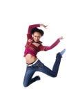 Mooie Afrikaanse meisjessprong Royalty-vrije Stock Fotografie
