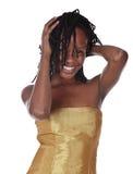 Mooie Afrikaanse vrouw Royalty-vrije Stock Afbeeldingen