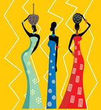 Mooie Afrikaanse vrouwen stock illustratie