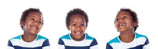 Mooie Afro-Amerikaanse jongen Stock Afbeeldingen