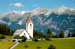 Mooie alpiene bergketens, Midden-Europa Stock Afbeeldingen