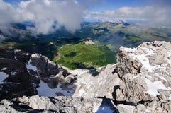 Mooie Alpiene Mening Stock Afbeeldingen