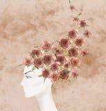 Mooie androgene ledenpop stock illustratie