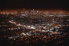 Mooie antenne die van Los Angeles wordt geschoten stock afbeeldingen