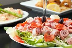 Mooie Antipasto-Salade royalty-vrije stock foto's