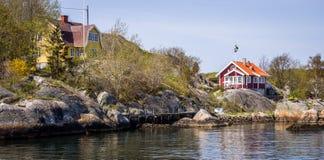 Mooie archipel van Gothenburg - Zweden stock foto