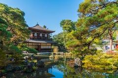 Mooie Architectuur bij de Zilveren tempel van Pavillion Ginkakuji royalty-vrije stock afbeelding