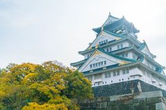 mooie architectuur bij het kasteel van Osaka Royalty-vrije Stock Foto