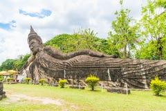 Mooie architectuur bij het park van Boedha in Vientiane royalty-vrije stock afbeeldingen