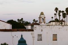 Mooie Architectuur in het midden van Palmen in Santa Cruz, Californië Royalty-vrije Stock Fotografie