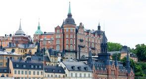 Mooie architectuur in oude stad van Stockholm Royalty-vrije Stock Foto