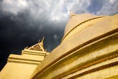 Mooie architectuur van gouden tempels Stock Foto