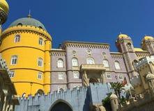 Mooie architectuur van het Pena-Paleis Portugal stock afbeelding