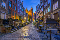 Mooie architectuur van Mariacka-straat in Gdansk Stock Foto's
