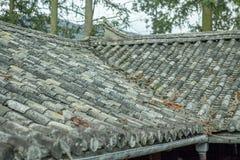 Mooie architectuurblokhuizen, het Huispaleis van Vuong stock fotografie