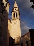 Mooie avond in Budva in Montenegro royalty-vrije stock fotografie