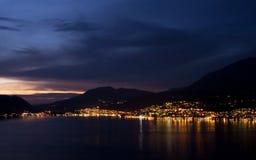 Mooie avond in Montenegro, panorama Royalty-vrije Stock Foto