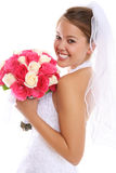 Mooie Aziatische Bruid bij Huwelijk Stock Foto's